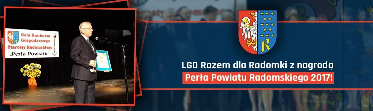 LGD Razem dla Radomki z nagrodą Perła Powiatu Radomskiego 2017!