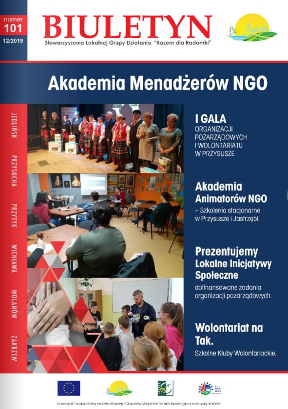 Biuletyn LGD Razem dla Radomki nr 101. Akademia Menadżerów NGO