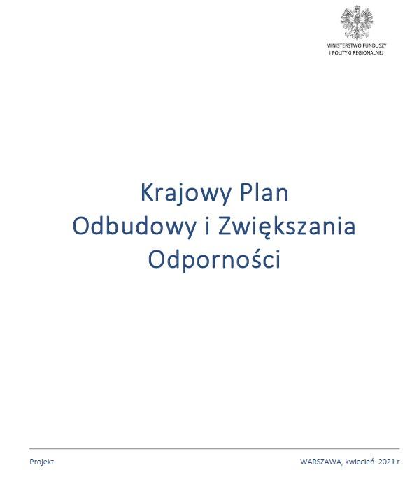 Rząd przyjął Krajowy Plan Odbudowy